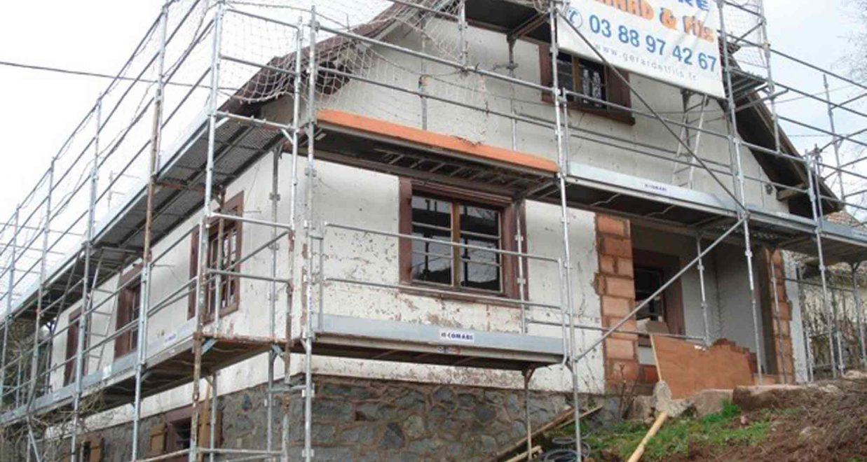 chantier derénovation d'une maison de campagne oktave